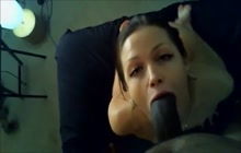 Horny hot ass babe gives great sloppy head