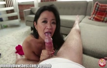 Filipina MILF Lucky Starr gets facialed