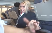 Riley Evans Hot Stewardess Makes Passenger Cum