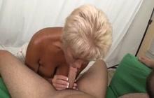 Older gal giving head