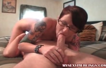 Sweet emo girl in 69 position with her lover