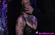 Tattooed lady with big tits enjoying hardcore sex