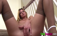 Hot cougar sucks dick and gets spunk all over her