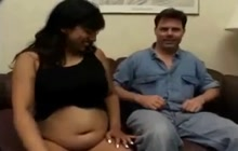 Desi pregnant girl sucks dick